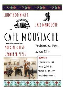 Konzert Café Moustache Barrio 5 Februar 16